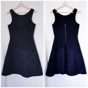 Vera Wang Neoprene Fit and Flare Dress